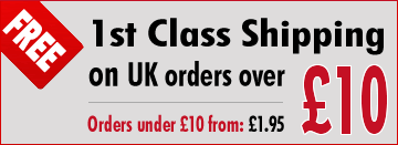 Free UK 1st Class Shipping on UK Orders over £10