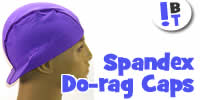 Spandex Du-rags / Do-rags / Visor Caps / Wave Caps - One-Size Unisex