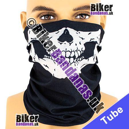 Life-Size Skull Jaw Face Multifunctional Headwear / Neck Tube Bandana / Neck Warmer