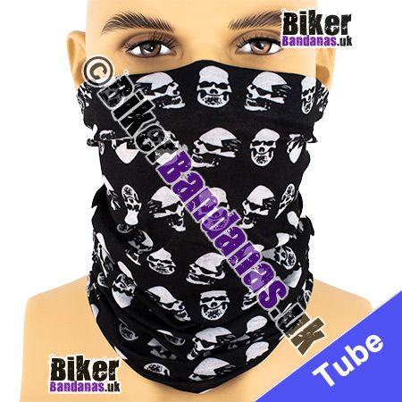 Skulls in Profile Multifunctional Headwear / Neck Tube Bandana / Neck Warmer
