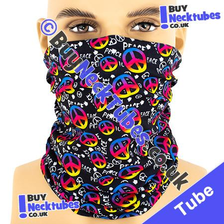 Black CND Peace Multifunctional Headwear / Neck Tube Bandana / Neck Warmer