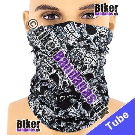 Tattoo Skulls Multifunctional Headwear / Neck Tube Bandana / Neck Warmer