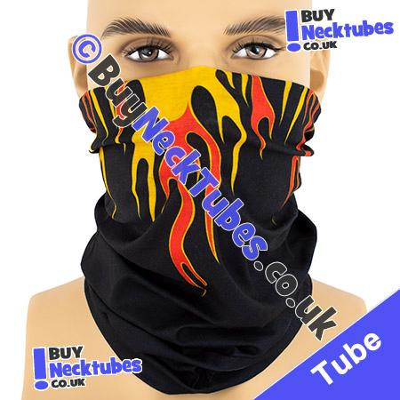 Shallow Tribal Flames Multifunctional Headwear / Neck Tube Bandana / Neck Warmer