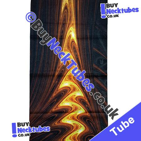 Fabric view of Flame Reflected in Rippling Water Multifunctional Headwear / Neck Tube Bandana / Neck Warmer