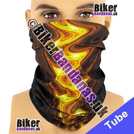 Flame Reflected in Rippling Water Multifunctional Headwear / Neck Tube Bandana / Neck Warmer