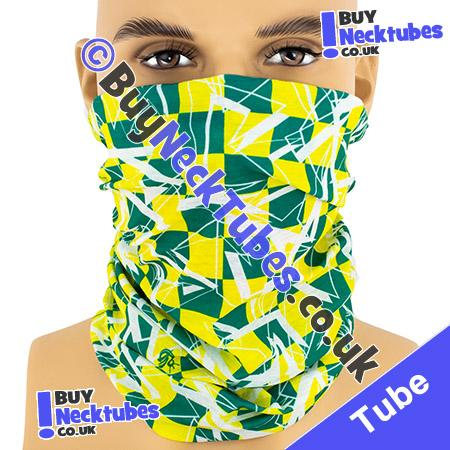 Green and Yellow Shattered Checked Squares Multifunctional Headwear / Neck Tube Bandana / Neck Warmer