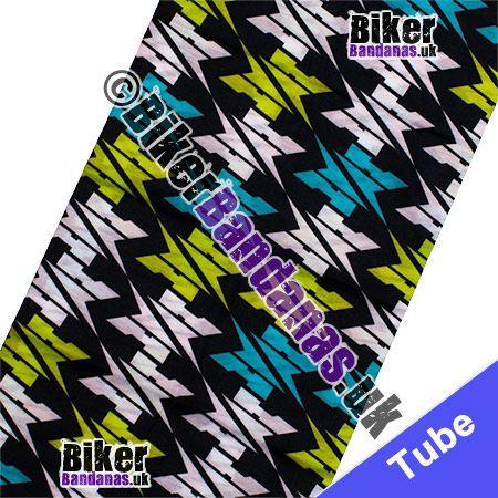 Fabric view of Giant Dogtooth Check Multifunctional Headwear / Neck Tube Bandana / Neck Warmer