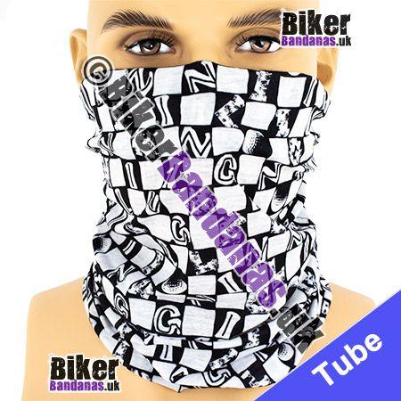 Black & White Alphabet Check Multifunctional Headwear / Neck Tube Bandana / Neck Warmer