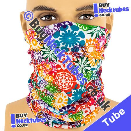 Psychedelic Flower Power Multifunctional Headwear / Neck Tube Bandana / Neck Warmer