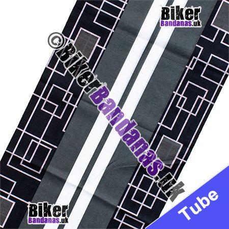 Fabric view of Grey Dual Carriageway Multifunctional Headwear / Neck Tube Bandana / Neck Warmer