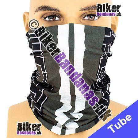 Grey Dual Carriageway Multifunctional Headwear / Neck Tube Bandana / Neck Warmer