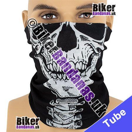 Skull Face on Vertebrae Multifunctional Headwear / Neck Tube Bandana / Neck Warmer