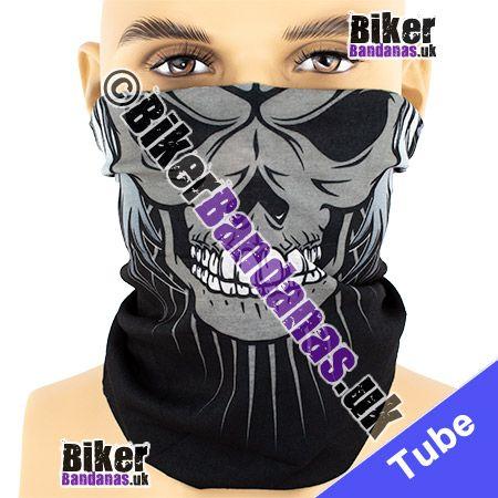 Single Winged Skull Face Multifunctional Headwear / Neck Tube Bandana / Neck Warmer