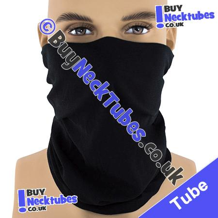 Plain Black Multifunctional Headwear / Neck Tube Bandana / Neck Warmer