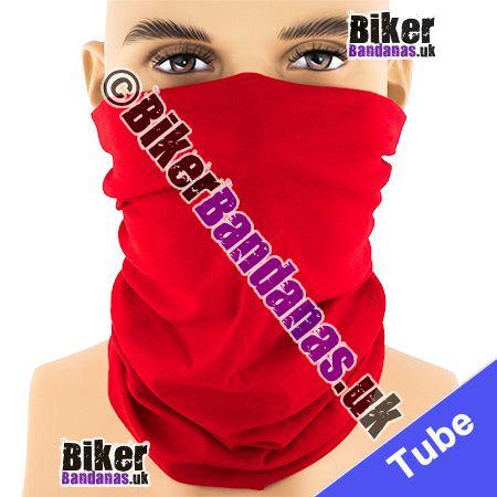 Plain Red Multifunctional Headwear / Neck Tube Bandana / Neck Warmer