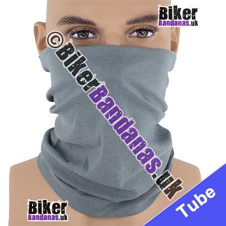 Plain Grey Multifunctional Headwear / Neck Tube Bandana / Neck Warmer
