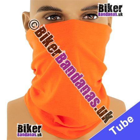 Plain Orange Multifunctional Headwear / Neck Tube Bandana / Neck Warmer