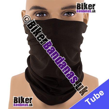 Plain Brown Multifunctional Headwear / Neck Tube Bandana / Neck Warmer