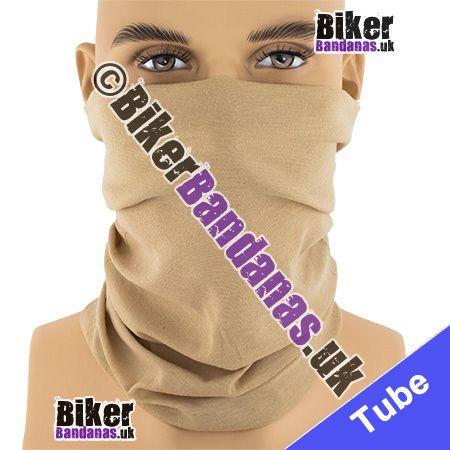 Plain Camel Beige Multifunctional Headwear / Neck Tube Bandana / Neck Warmer
