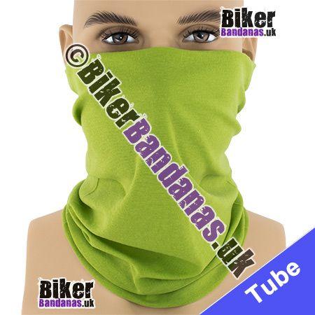 Plain Lime Green Multifunctional Headwear / Neck Tube Bandana / Neck Warmer