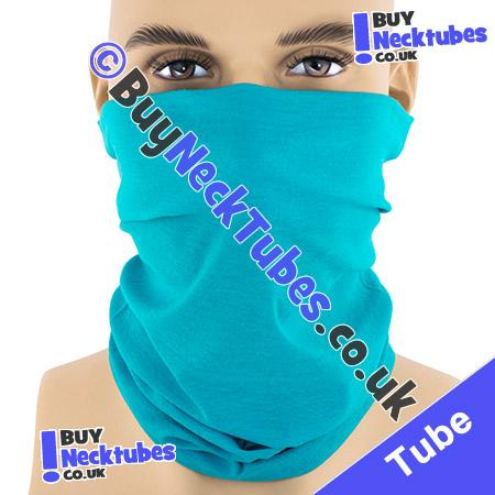 Plain Turquoise Blue Multifunctional Headwear / Neck Tube Bandana / Neck Warmer