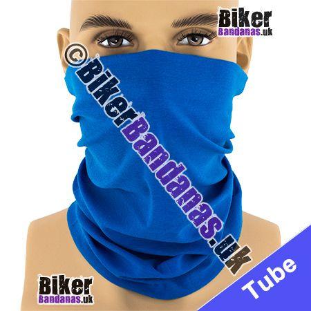 Plain Mid Blue Multifunctional Headwear / Neck Tube Bandana / Neck Warmer