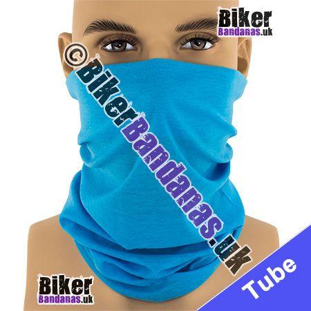 Plain Sky Blue Multifunctional Headwear / Neck Tube Bandana / Neck Warmer