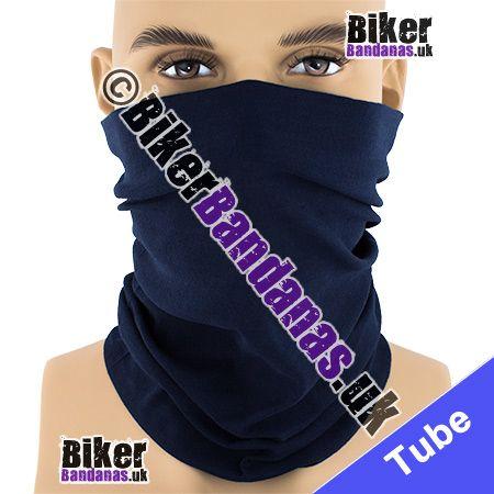 Plain Navy Blue Multifunctional Headwear / Neck Tube Bandana / Neck Warmer