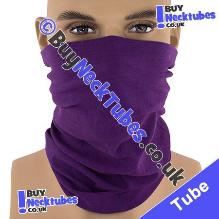 Plain Purple Multifunctional Headwear / Neck Tube Bandana / Neck Warmer