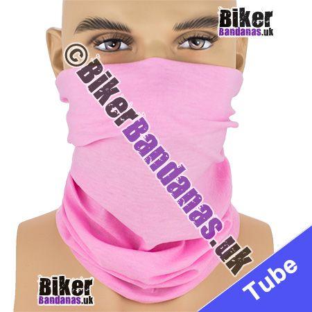 Plain Pink Multifunctional Headwear / Neck Tube Bandana / Neck Warmer