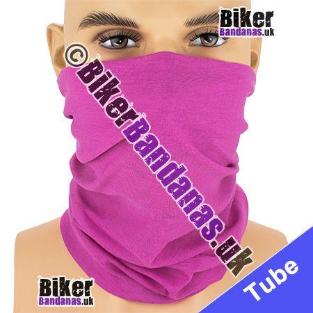 Plain Bright Pink Multifunctional Headwear / Neck Tube Bandana / Neck Warmer