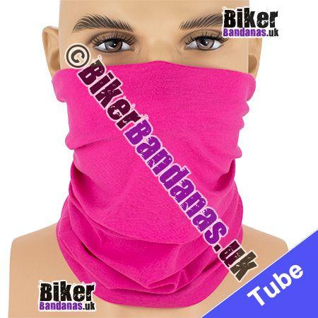 Plain Cerise Hot Pink Multifunctional Headwear / Neck Tube Bandana / Neck Warmer