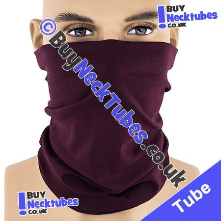 Plain Dark Burgundy Maroon Multifunctional Headwear / Neck Tube Bandana / Neck Warmer