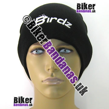 Birdz Eyewear Black Beanie Hat with white embroidered Birdz logo