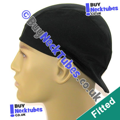 Black Spandex Visor Cap / Wave Cap / Du-Rag / Do-Rag