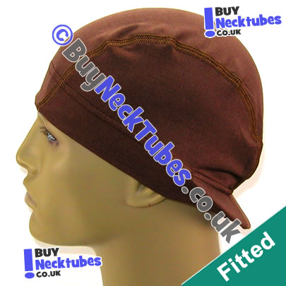 Brown Spandex Visor Cap / Wave Cap / Du-Rag / Do-Rag
