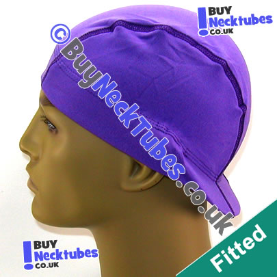 Purple Spandex Visor Cap / Wave Cap / Du-Rag / Do-Rag